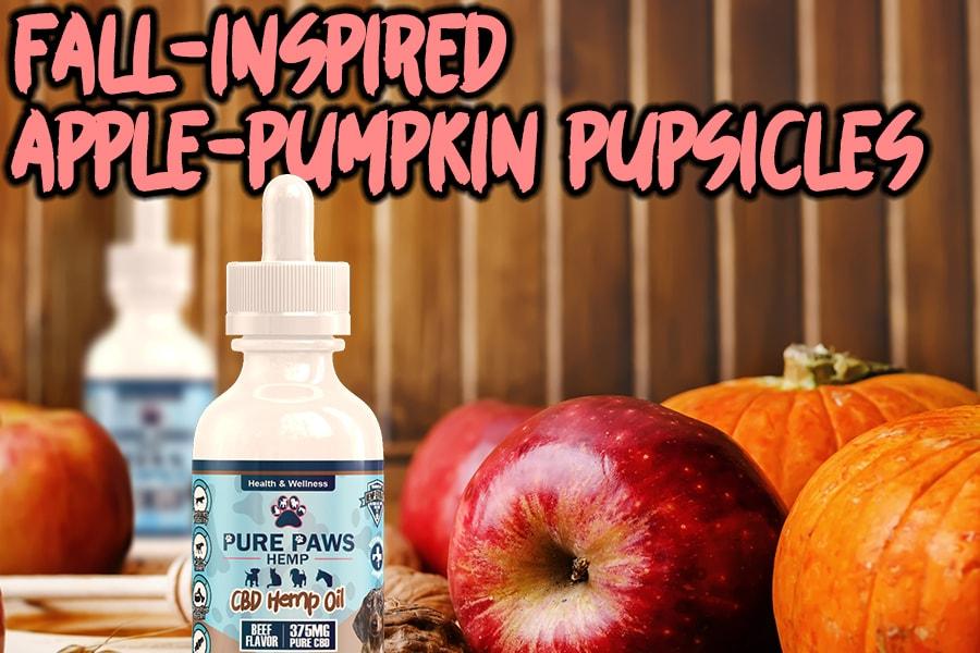 apple pumpkin homemade dog treats recipes with CBD Oil