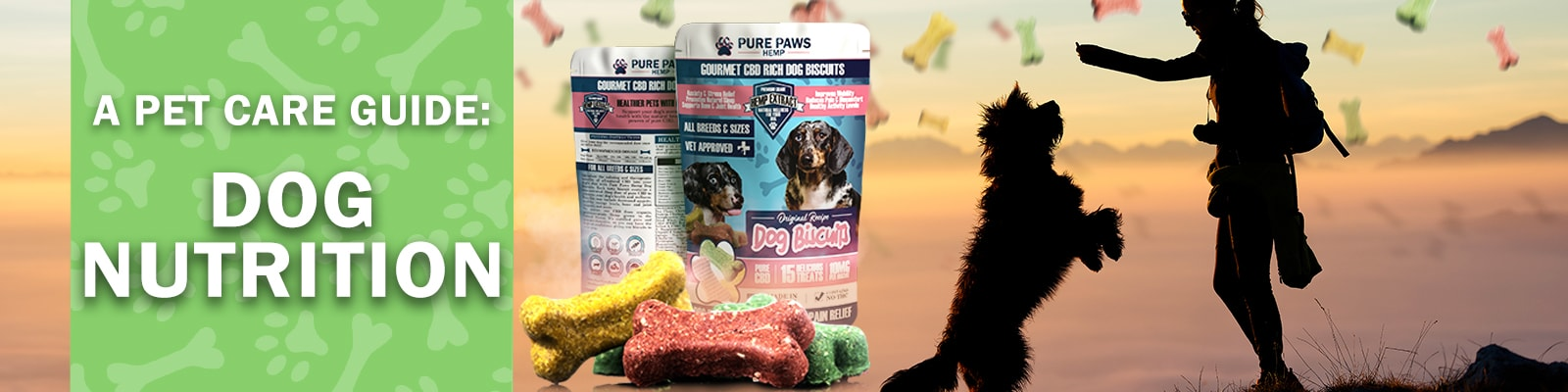Pure Paws Hemp Dog Biscuits for Dog Nutrition