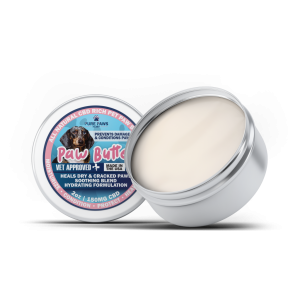 2 oz tin of 150mg pure paws cbd paw butter